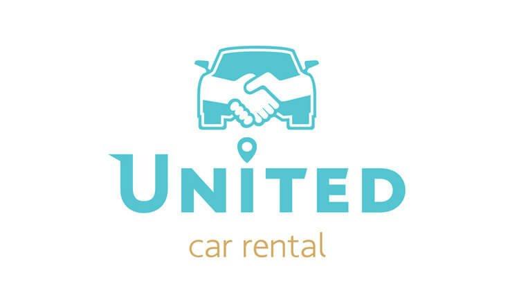 logotypo rent a car united karpathos sxediasmos grafistas